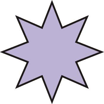 Polígono estrellado. 8 puntas