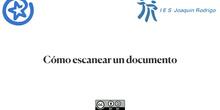 Cómo escanear un documento