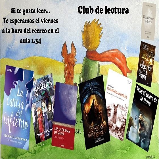 Cartel club de lectura 2018-19