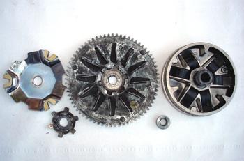 Ciclomotor. Despiece del variador de velocidad