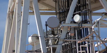 Radioenlaces de 18 Ghz punto a punto con radomos de protecci&