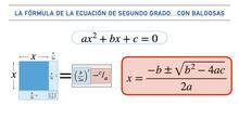 La fórmula de la ecuación de segundo grado...con baldosas