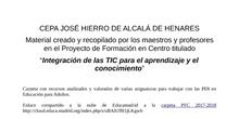 PFC 2017-2018 CEPA José Hierro. Materiales elaborados