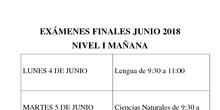 Exámenes Finales Junio 2017/18