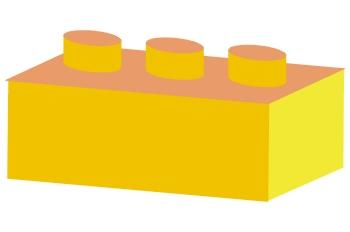 Pieza de arquitectura amarilla