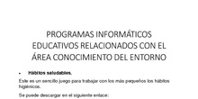 RECURSOS WEB RELACIONADOS CON CONOCIMIENTO DEL ENTORNO