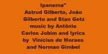 La chica de Ipanema