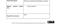 DESCARBONIZACIÓN DEL ENTORNO DEL IES EN LAS HORAS DE ENTRADA Y SALIDA
