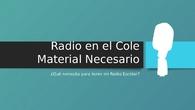 Radio en el cole
