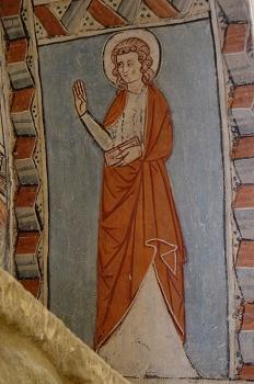 Figura de Santo. San Miguel de Foces, Huesca