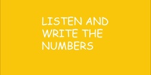 Number dictation up to 30