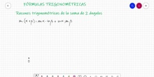 Fórmulas trigonométricas I