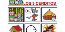 LOS 3 CERDITOS CON PICTOGRAMAS