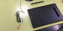 Clase en streaming con Jitsi y tableta digitalizadora