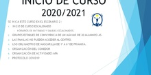 INICIO   CURSO 2021