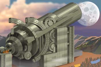 De la Tierra a la Luna: El cañón impulsor