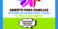 ABIERTO PARA LAS FAMILIAS SECUNDARIA