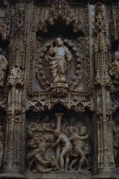 Escena de la flagelación de Jesús, Huesca