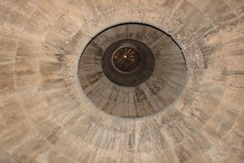 Detalle del final de la escalera de caracol, Sagrada Familia, Ba
