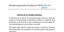 1º PRIMARIA - HÁBITOS DE AUTONOMÍA PERSONAL