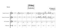 Partitura de composición basada en melodía de Miriam P.