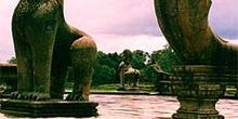 Detalle de hidra en Angkor, Camboya