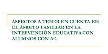 Estrategias para intervención con familias del alumnado con altas capacidades.