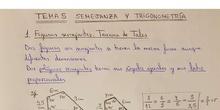 Semejanza. Teorema de Tales. Razones trigonométricas de un ángulo agudo