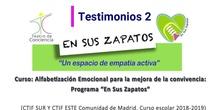 "Testimonios docentes (2) programa ""En sus zapatos"""