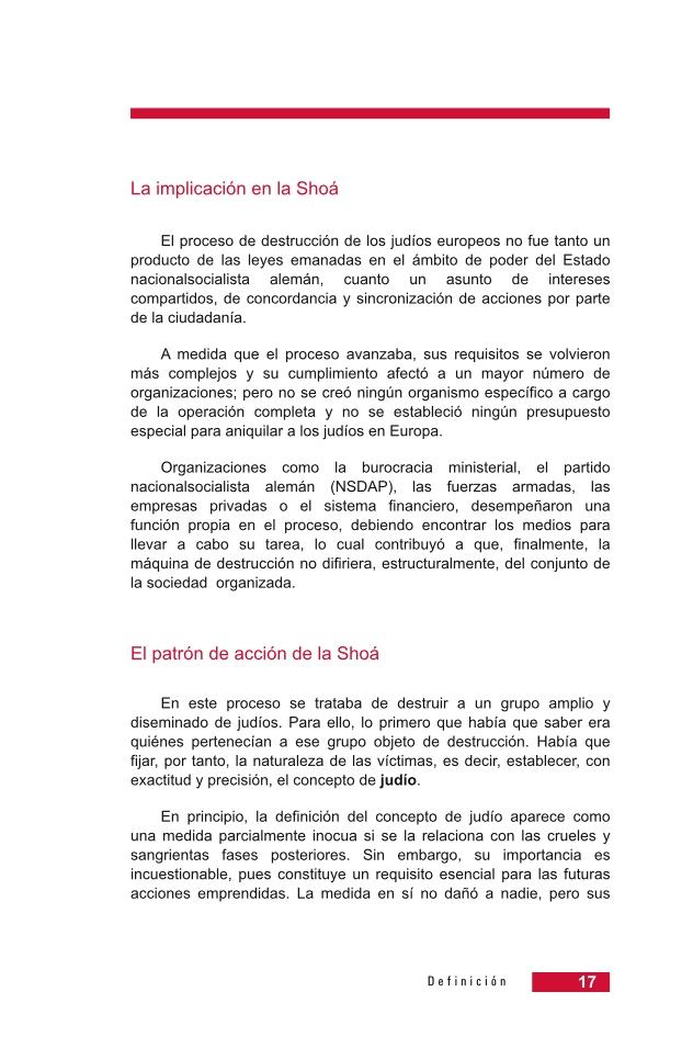 Página 17 de la Guía Didáctica de la Shoá
