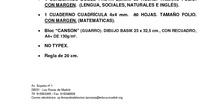 Listado de libros de 6º de Primaria. Curso 2017-2018