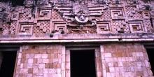 Detalle de la fachada del Palacio del Gobernador, Uxmal, México