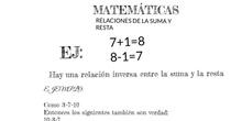 PRIMARIA 6º - RELACIÓN ENTRE LA SUMA Y LA RESTA - MATEMÁTICAS - FORMACIÓN