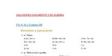 1ºESOA/E SOLUCIONES Documento 3 SUMA Y RESTA DE MONOMIOS