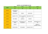 Calendario examenes 2bach