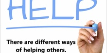 How do you help others?