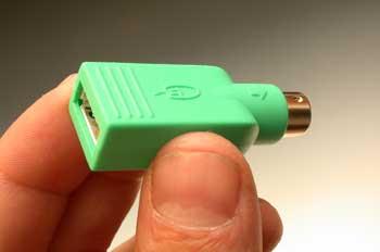 Informática, adaptador de conector USB a conector PS2
