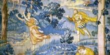 Tapiz flamenco (Representación del mito de Apolo y Dafne), Sacri