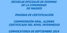 Certificado de Nivel Intermedio (B1). Alemán. Modelo B