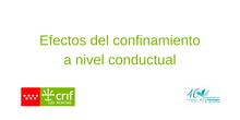 Efectos del Confinamiento a Nivel Conductual
