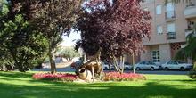 Parque con carro en Griñón