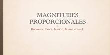 PRIMARIA-6º-MAGNITUDES PROPORCIONALES-MATEMÁTICAS- CRISTINA S, CRISTINA A, ALVARO Y ALBERTO- FORMACIÓN