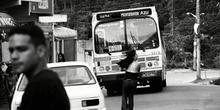 Autobús, favela Horizonte Azul, Sao Paulo, Brasil