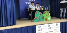 Jugadores del CD Leganés visitan el cole