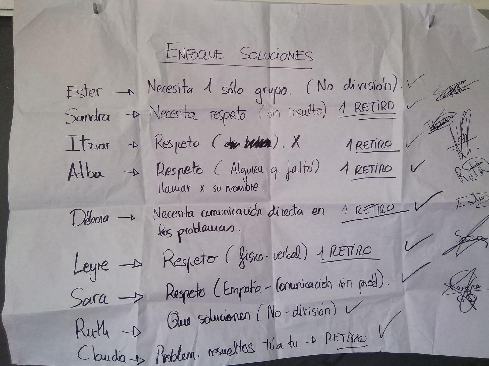 DINÁMICA ENFOQUE SOLUCIONES EN AULA