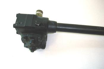 Caja de dirección sinfin y rodillo. Vista de tapa de ajuste rodi