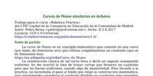 Curvas de Peano aleatorias en Arduino