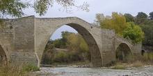 Arco central del puente de Capella Huesca