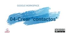 4-Gmail. Crear contactos