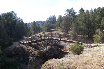Puente de madera, Muriel de la Fuente, Soria, Castilla y León